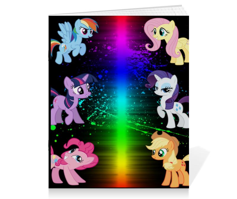 Тетрадь на скрепке Printio Пони-pony