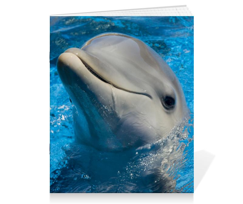 Тетрадь на скрепке Printio Дельфин 1