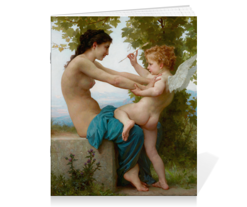 Тетрадь на скрепке Printio Девушка, пытающаяся защититься от стрелы эрота тетрадь на скрепке printio девушка с жемчужной серёжкой ян вермеер