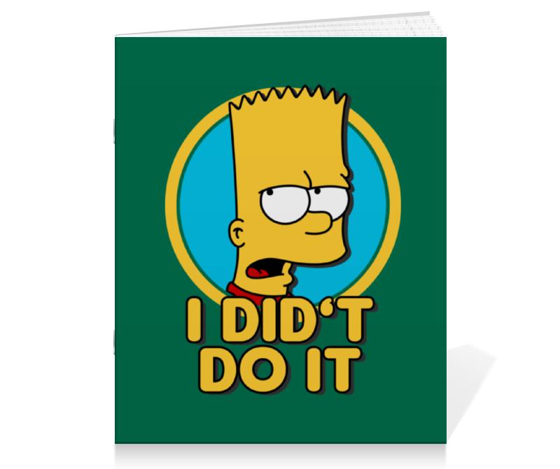 Тетрадь на скрепке Printio Барт симпсон. я этого не делал