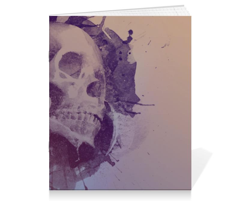 Тетрадь на скрепке Printio Splatter skull тетрадь на скрепке printio i want to write you a song one direction mitam