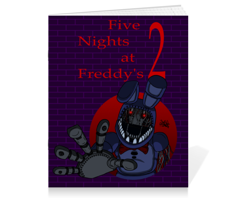 Тетрадь на скрепке Printio Five nights at freddy`s 2 (withered bonnie) five nights at freddy s freddy backpack chica foxy bonnie fnaf shoulder 44x15x33 cm