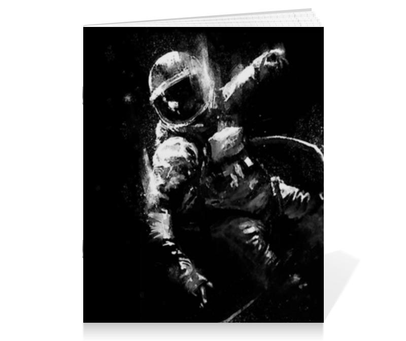 Тетрадь на скрепке Printio Астронавт тетрадь на скрепке printio зонтики