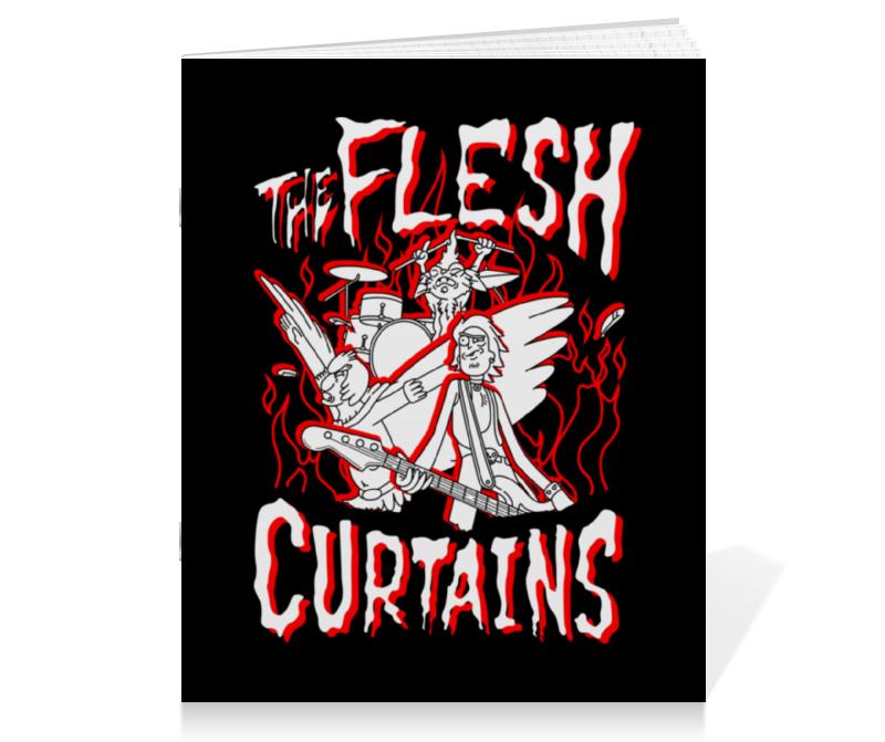 Тетрадь на скрепке Printio Рик и морти. the flesh curtains live flesh
