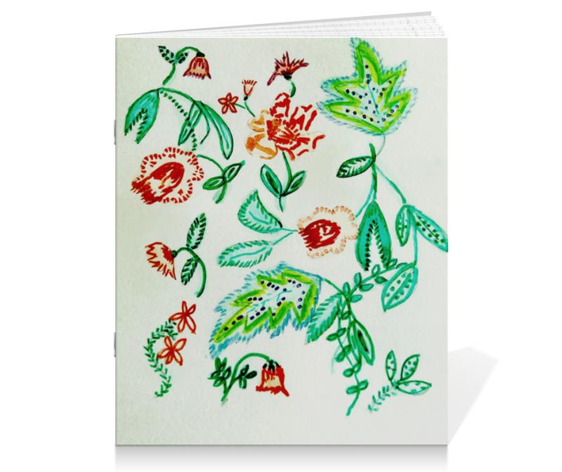 Тетрадь на скрепке Printio Дикие цветы