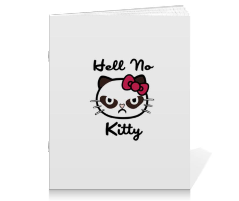 Тетрадь на скрепке Printio Hell no kitty тетрадь на скрепке printio медведь