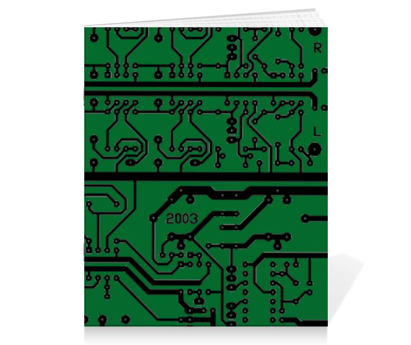 Тетрадь на скрепке Printio Электроника