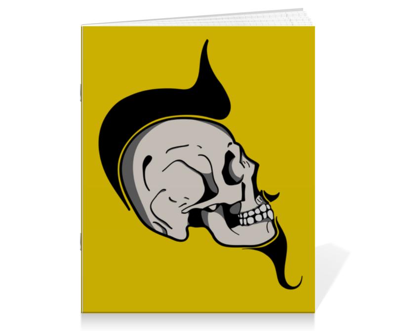 Тетрадь на скрепке Printio Skull тетрадь на скрепке printio radar