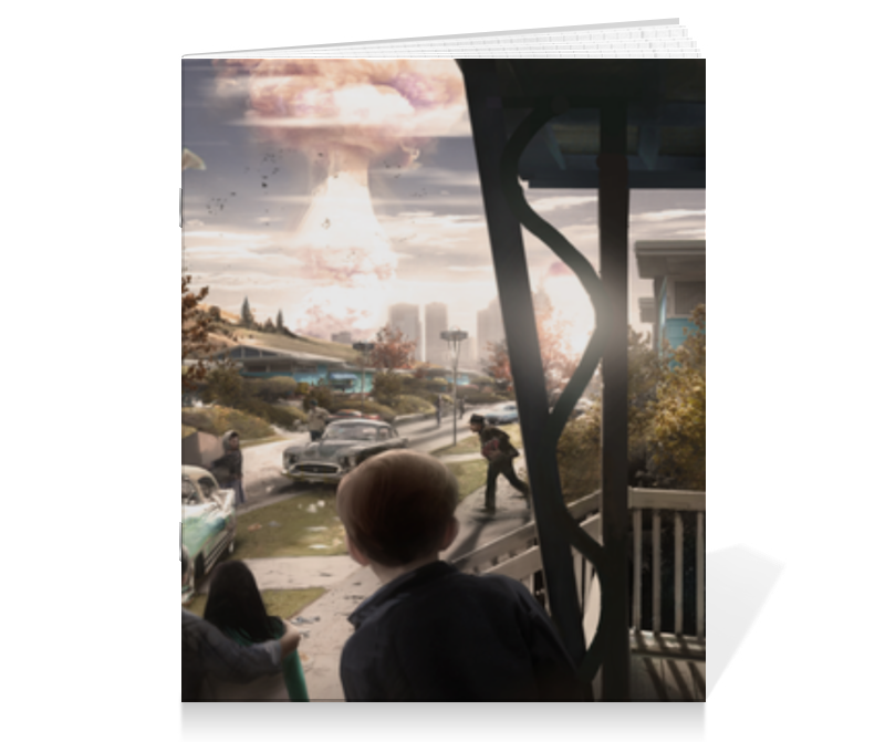 Тетрадь на скрепке Printio Fallout 4 тетрадь на скрепке printio медведь