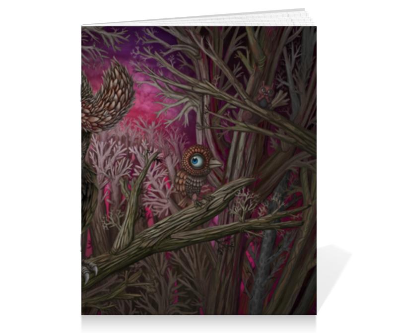 Тетрадь на скрепке Printio Forest тетрадь на скрепке printio кошак