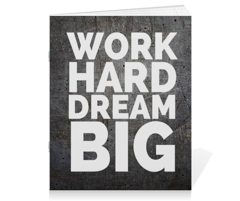 Тетрадь на скрепке Printio Work hard dream big сандали valentino fa150529 hk 15 hard work