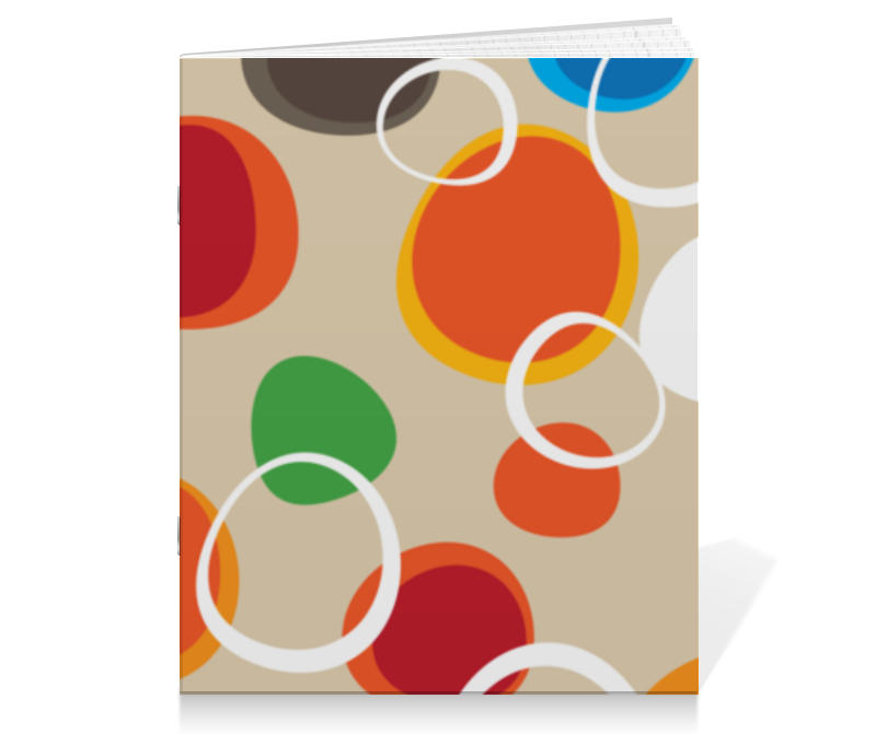 Тетрадь на скрепке Printio Цветная абстракция тетрадь на скрепке printio абстракция