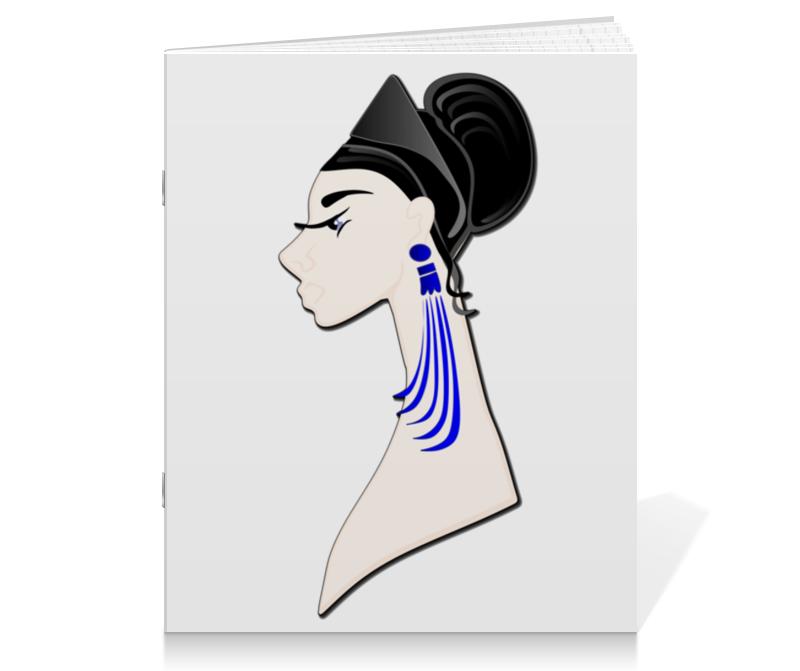 Тетрадь на скрепке Printio Девушка в синих сережках тетрадь на скрепке printio девушка с жемчужной серёжкой ян вермеер