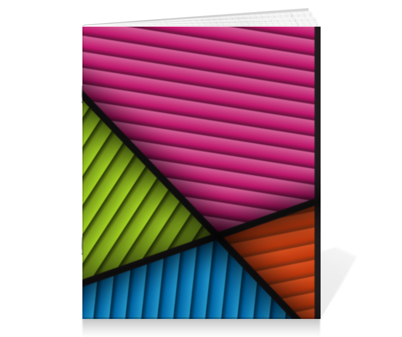 Тетрадь на скрепке Printio Цветная абстракция printio тетрадь на скрепке