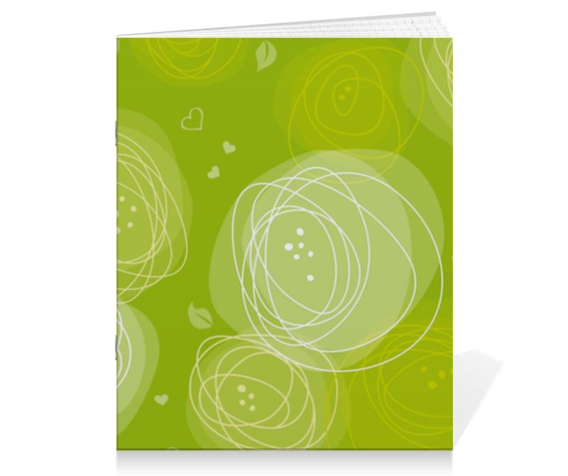 Тетрадь на скрепке Printio Летняя абстракция тетрадь на скрепке printio абстракция