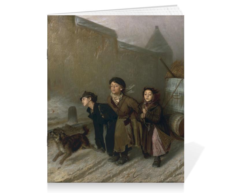 Тетрадь на скрепке Printio Тройка (картина перова) цена