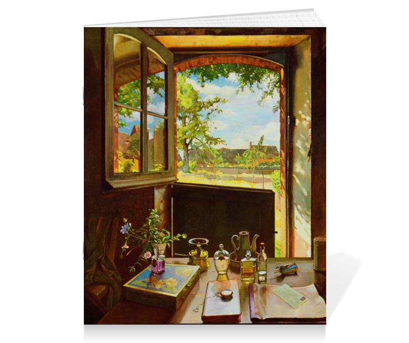 купить Тетрадь на скрепке Printio Открытая дверь в сад (константин сомов) по цене 210 рублей