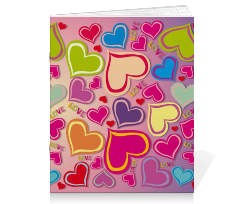 Тетрадь на скрепке Printio Love набор скоб для степлера bosch tk40 30g