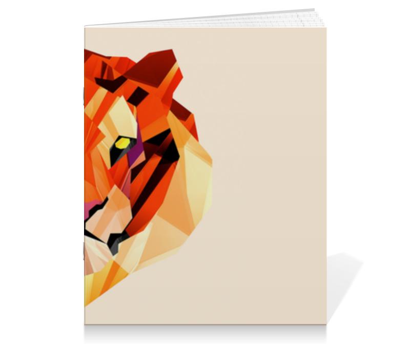 Тетрадь на скрепке Printio Тигр