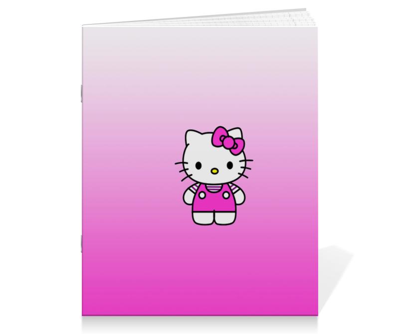 Тетрадь на скрепке Printio Hello kitty защитная пленка для клавиатуры other brands kittty mac air pro 11 13 15 hello kitty