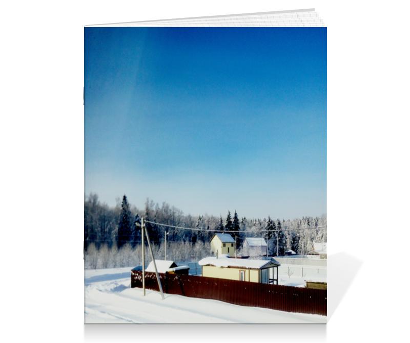 Тетрадь на скрепке Printio Зима. мороз. солнце.