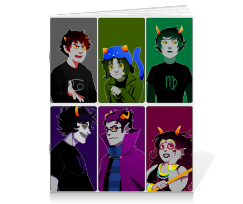 Тетрадь на скрепке Printio Homestuck troll alfani women s long sleeve marilyn cowl neck tunic sweater emerald 2x