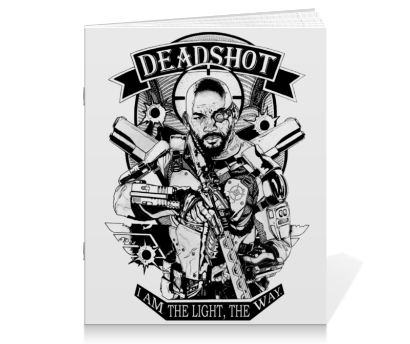 Тетрадь на скрепке Printio Deadshot deadshot bulletproof