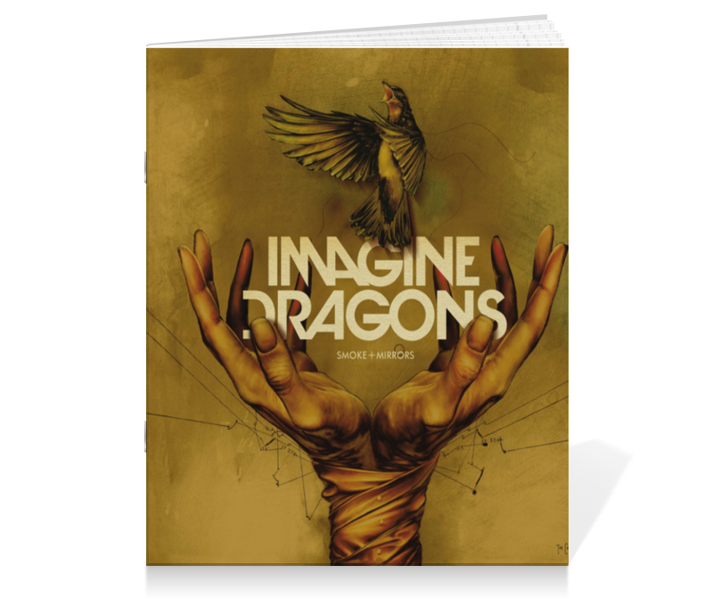 Тетрадь на скрепке Printio Imagine dragons imagine dragons imagine dragons night visions