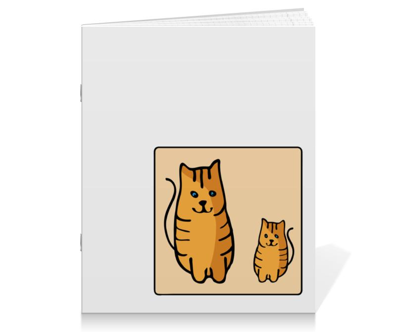 Тетрадь на скрепке Printio Два котика, смотрящие друг на друга тетрадь на скрепке printio медведь