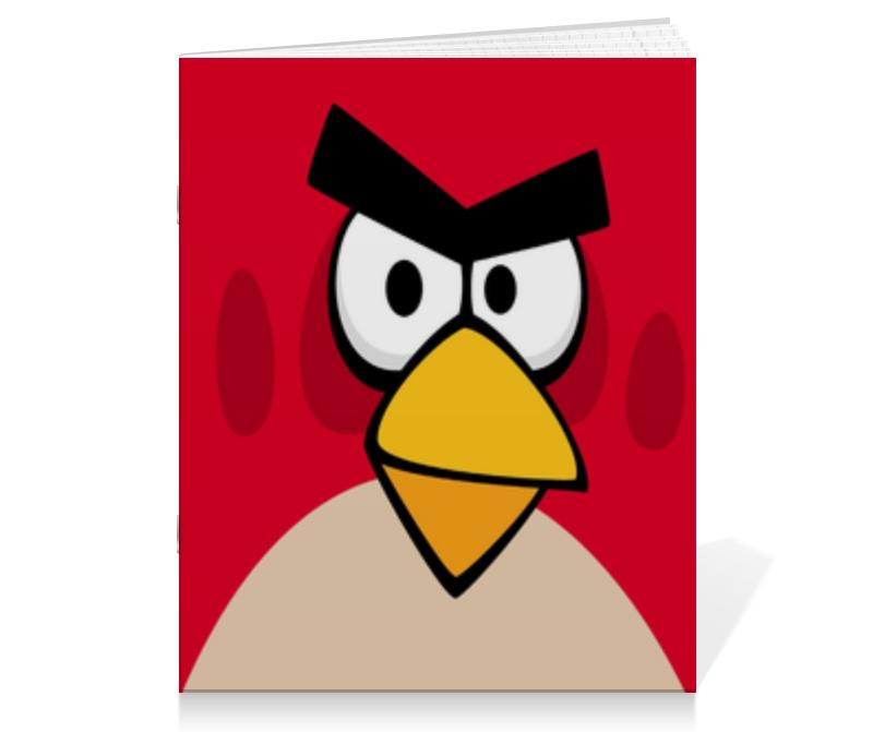 Тетрадь на скрепке Printio Angry birds (terence) тетрадь на пружине printio space angry birds