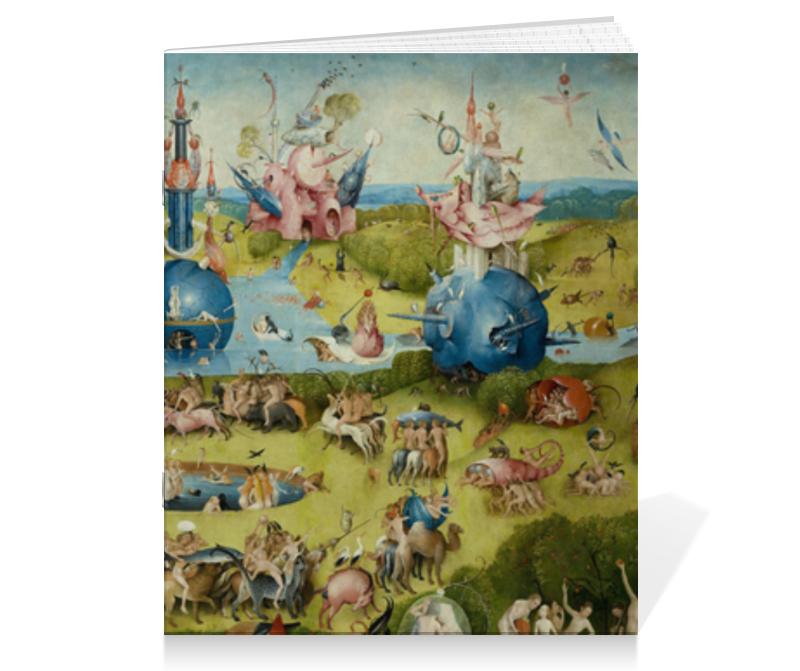 Тетрадь на скрепке Printio Сад земных наслаждений пазл 73 5 x 48 8 1000 элементов printio сад земных наслаждений
