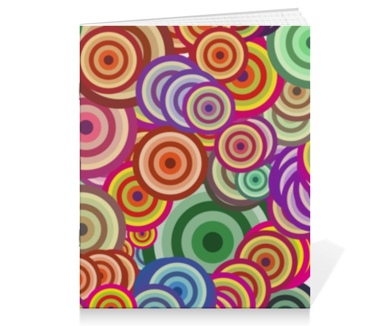 Тетрадь на скрепке Printio Цветные круги тетрадь на скрепке printio тетрадь замок