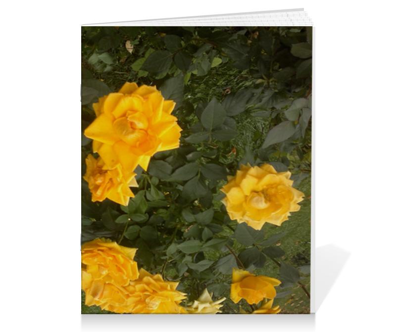 Тетрадь на скрепке Printio Осенние розы