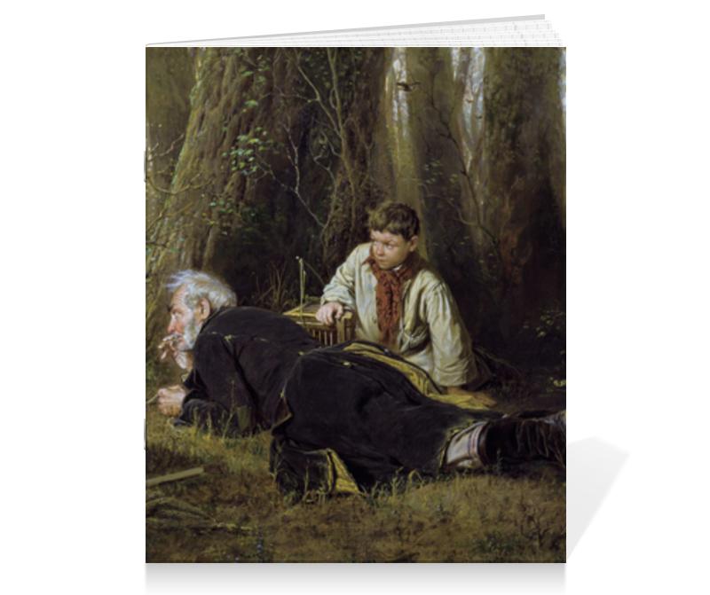 Тетрадь на скрепке Printio Птицелов (картина перова) тетрадь на скрепке printio княжна тараканова картина флавицкого