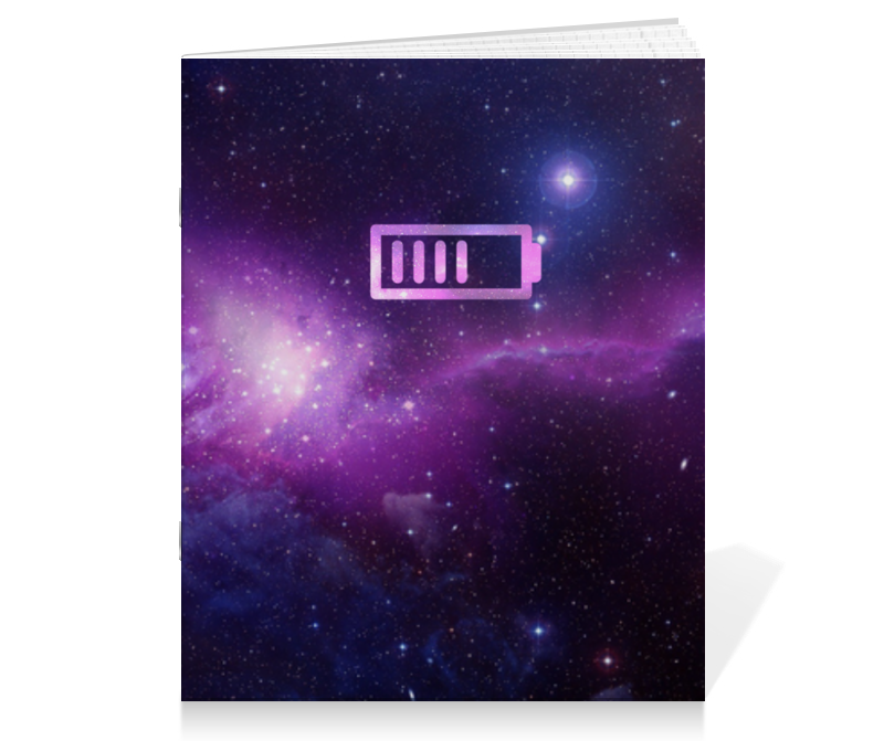 Тетрадь на скрепке Printio Фиолетовый космос тетрадь на скрепке printio тетрадь космос