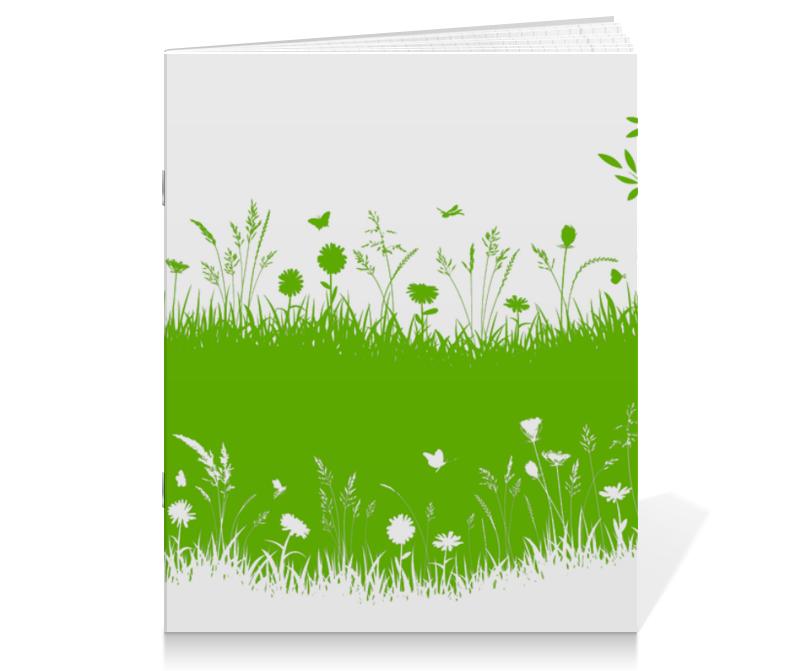 все цены на Тетрадь на скрепке Printio Летняя трава онлайн