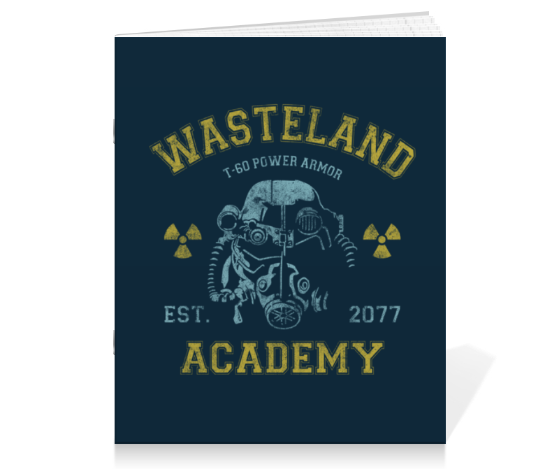 Тетрадь на скрепке Printio Fallout. wasteland academy тетрадь на скрепке printio i want to write you a song one direction mitam