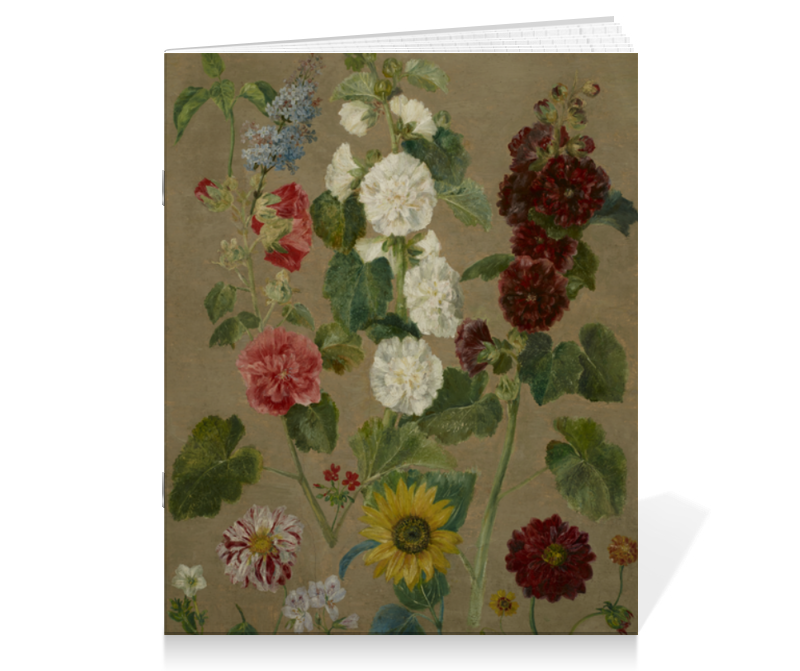 Тетрадь на скрепке Printio Цветы (эжен делакруа)