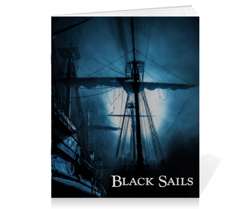 Тетрадь на скрепке Printio Черные паруса / black sails ремень dc full sails black