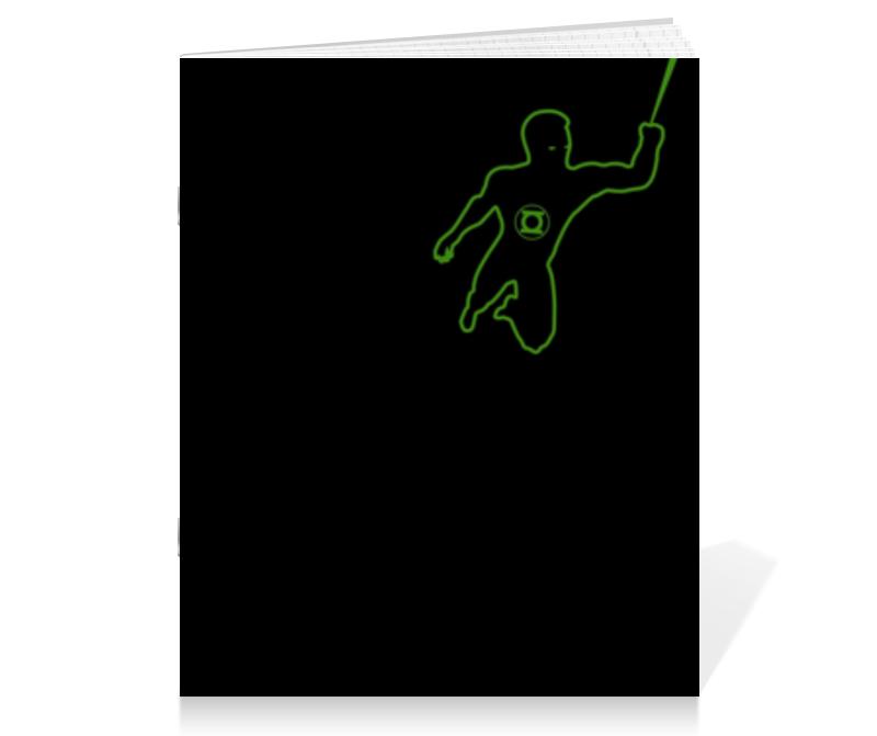 Тетрадь на скрепке Printio Зеленый фонарь