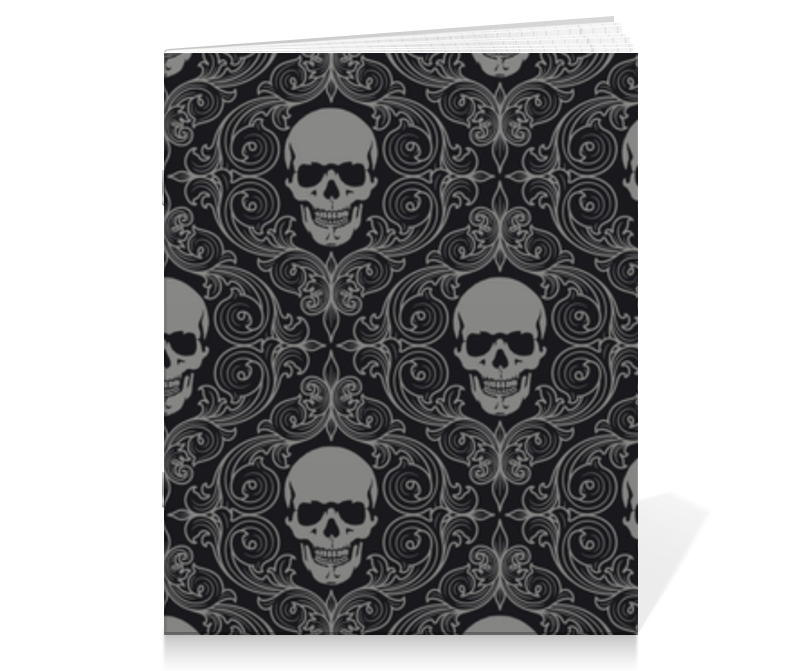 Тетрадь на скрепке Printio Texture skull creative irregular skull pattern flax square shape pillowcase without pillow inner