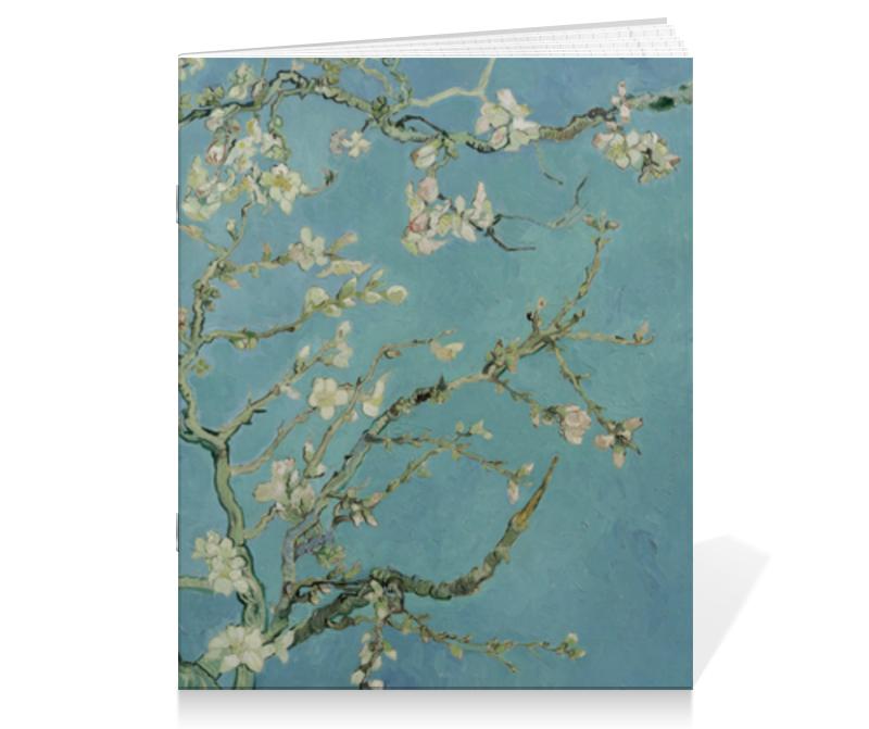 Тетрадь на скрепке Printio Цветы миндаля (ван гог) блокнот в пластиковой обложке ван гог цветущие ветки миндаля формат малый 64 страницы арте