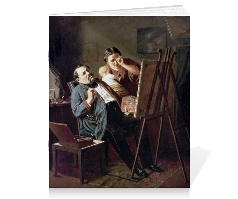 Тетрадь на скрепке Printio Дилетант (картина перова) тетрадь на скрепке printio княжна тараканова картина флавицкого