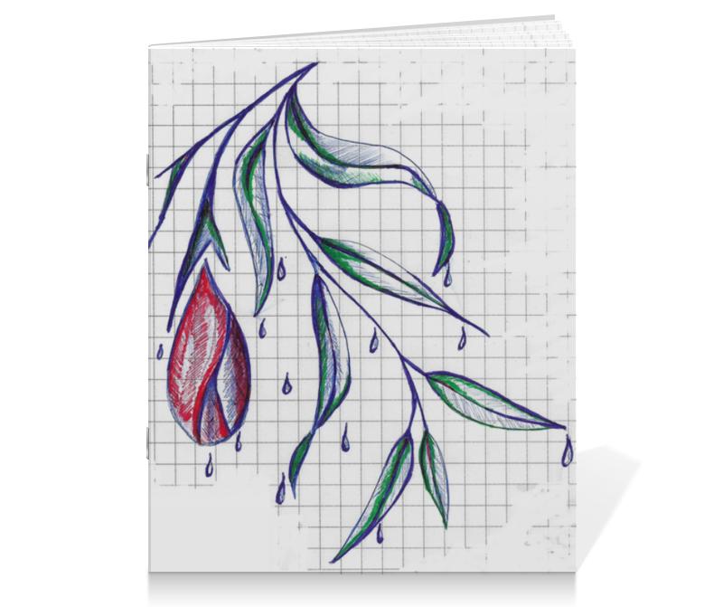 Тетрадь на скрепке Printio Цветок тетрадь на скрепке printio кошак