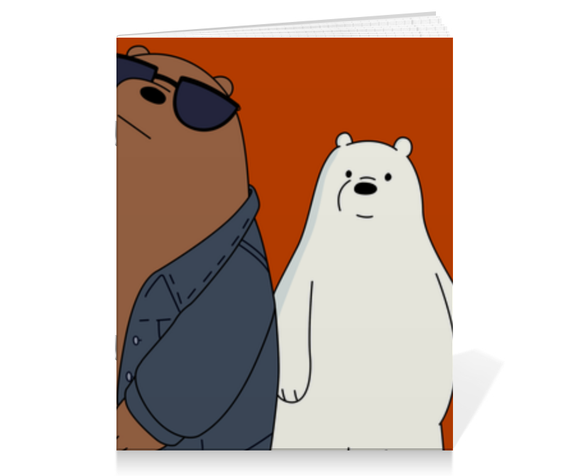 Тетрадь на скрепке Printio We bare bears good night bears