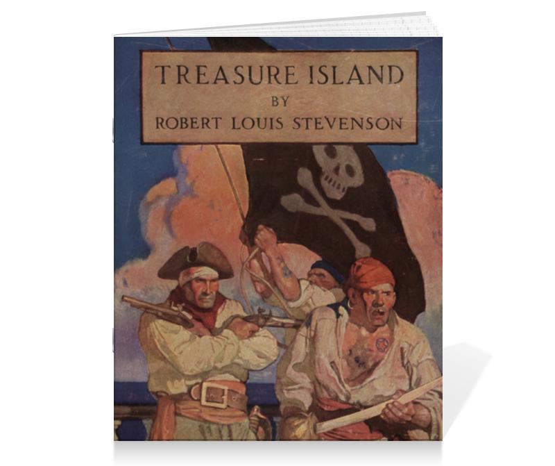Тетрадь на скрепке Printio Остров сокровищ (обложка издания 1911 г.) остров сокровищ 2 dvd