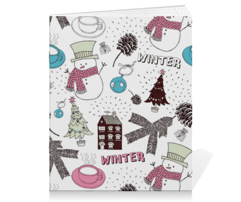 Тетрадь на скрепке Printio Winter тетрадь на скрепке printio кошак