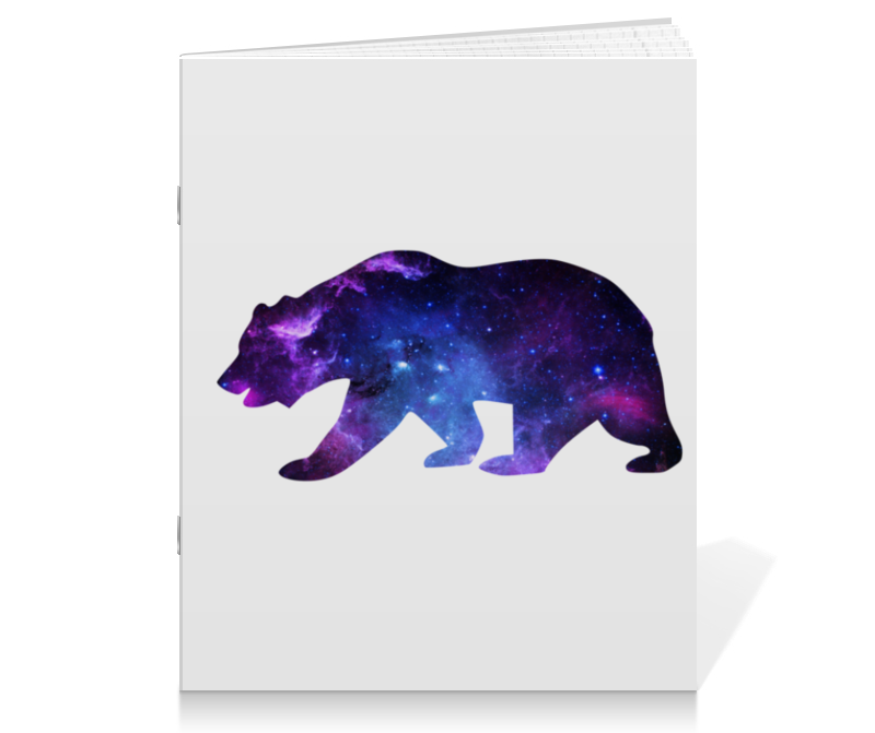 Тетрадь на скрепке Printio Space animals (двухсторонняя печать) тетрадь на скрепке printio медведь