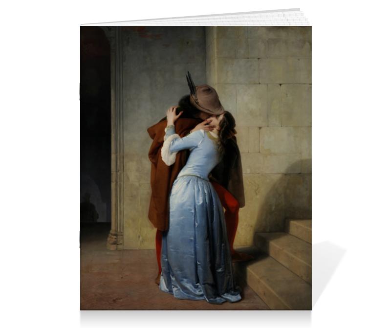 Тетрадь на скрепке Printio Поцелуй (франческо айец) тетрадь на скрепке printio медведь