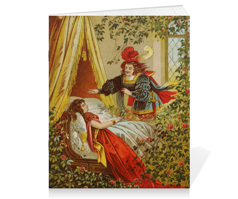 Тетрадь на скрепке Printio Спящая красавица сувенир закладка спящая красавица набор 7 штук